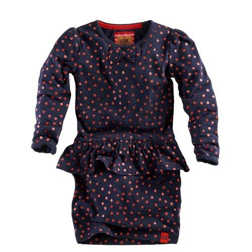 Z8 Z8 - Meisjes jurkje donker blauw Mieke