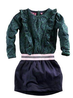 Z8 Z8 - Meisjes jurkje donker groen Mariska