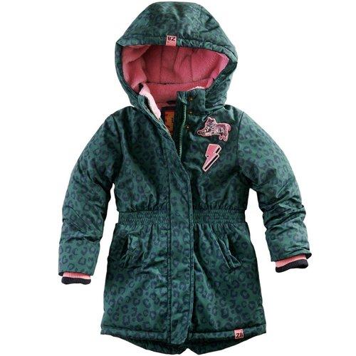 Z8 Z8 - Meisjes winterjas donker groen Margo