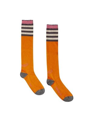Ninni-vi Ninni-Vi - meisjes kniesokken oranje