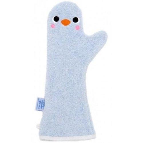 Invented4Kids Baby shower glove washand licht blauw