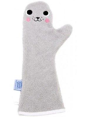 Invented4Kids Baby shower glove washand grijs