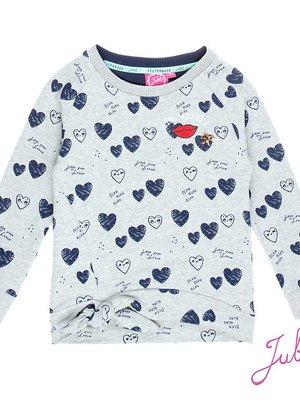 Jubel Meisjes sweater aop grijs Jubel