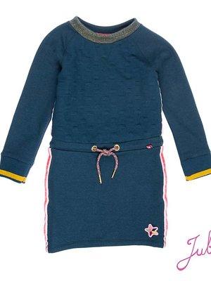 Jubel Meisjes jurk lange mouw blauw Jubel