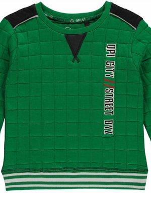 Quapi Jongens sweater groen Lef Quapi