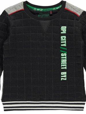 Quapi Jongens sweater antraciet Lef Quapi