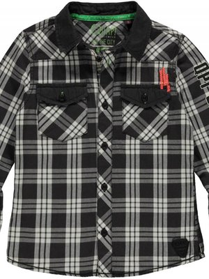 Quapi Jongens t-shirt antraciet Leendert Quapi