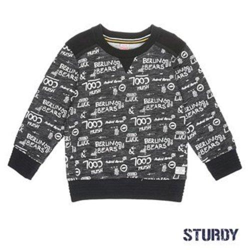 Sturdy Jongens sweater aop antraciet Sturdy