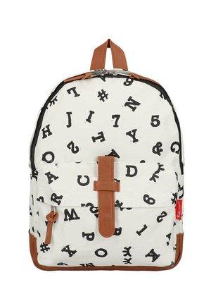 vado bag Kidzroom rugzak zwart wit numbers