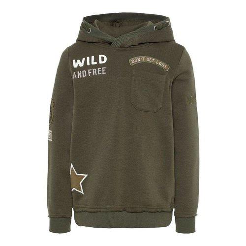 Name-it Name-it jongens sweater NKMSEJR groen
