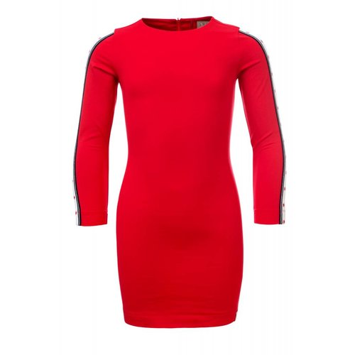 Looxs Revolution Meisjes jurk rood Looxs