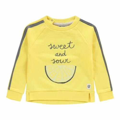 Tumble 'n Dry Tumble 'n Dry - Baby meisjes sweater Elisia geel