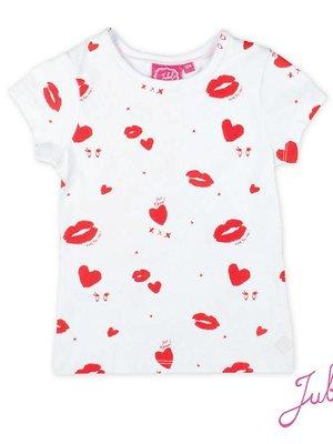 Jubel Meisjes t-shirt aop wit Jubel