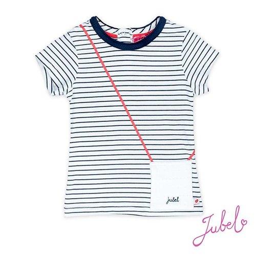 Jubel Meisjes t-shirt streep wit Jubel