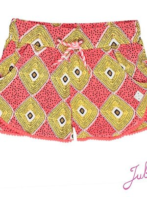 Jubel Meisjes short aop oranje Jubel