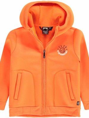 Tumble 'n Dry Tumble 'n Dry - Jongens sweatvest hoodie Denter oranje
