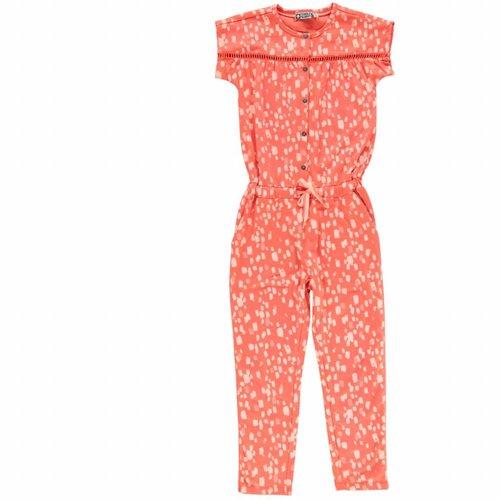 Tumble 'n Dry Tumble 'n Dry - Meisjes jumpsuit Canton fluor oranje
