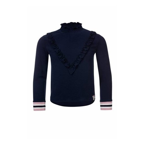 Looxs Revolution Meisjes blouse donker blauw Looxs