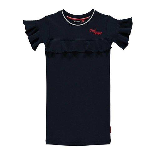 Quapi Quapi - Meisjes sweat jurk donker blauw Sabrina.