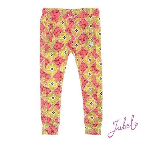 Jubel Meisjes lange broek aop oranje Jubel