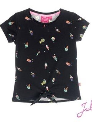 Jubel Meisjes t-shirt aop zwart Jubel