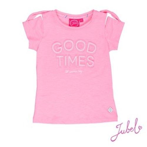 Jubel Meisjes t-shirt roze Jubel