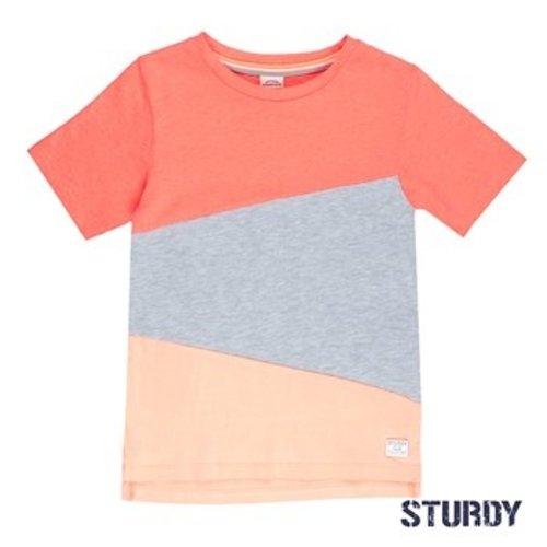 Sturdy Jongens t-shirt neon oranje Sturdy