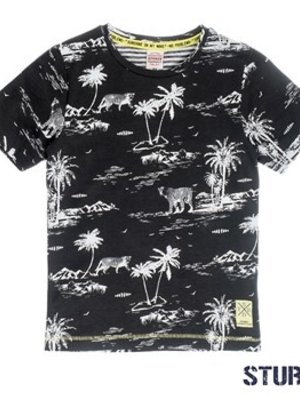 Sturdy Jongens t-shirt aop antraciet Sturdy
