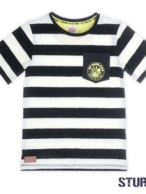 Sturdy Jongens t-shirt streep wit Sturdy