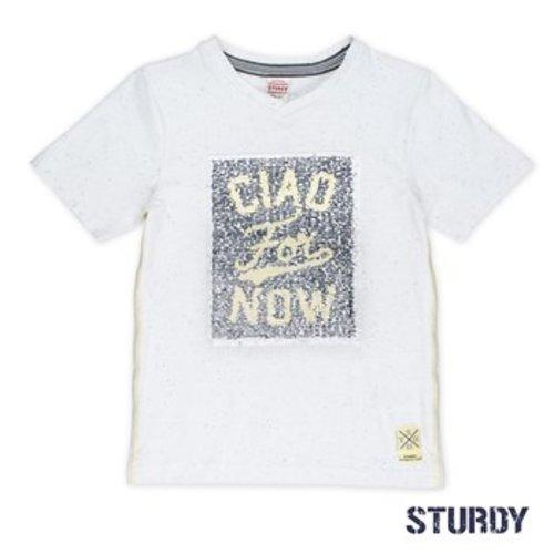 Sturdy Jongens veeg t-shirt wit Sturdy