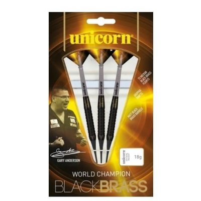Unicorn Gary Anderson World Champion Black Brass P2 Soft Tip