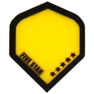 Bull's Five Star - Transparent Yellow Black border