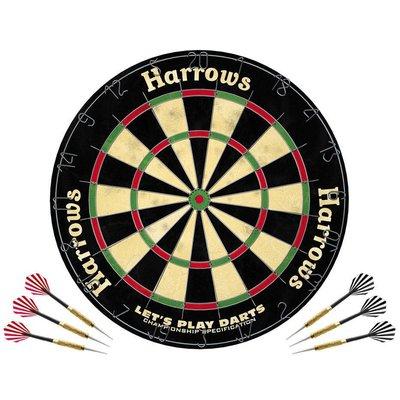 Harrows Let's Play Dartset Dartboard
