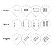 Dartshopper Customised Dart Flights Text - 100 Micron | 10 Sets (30 Dart Flights)
