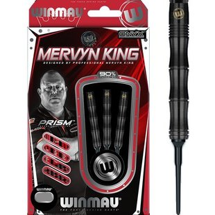 Winmau Mervyn King 90% PVD Grip Soft Tip