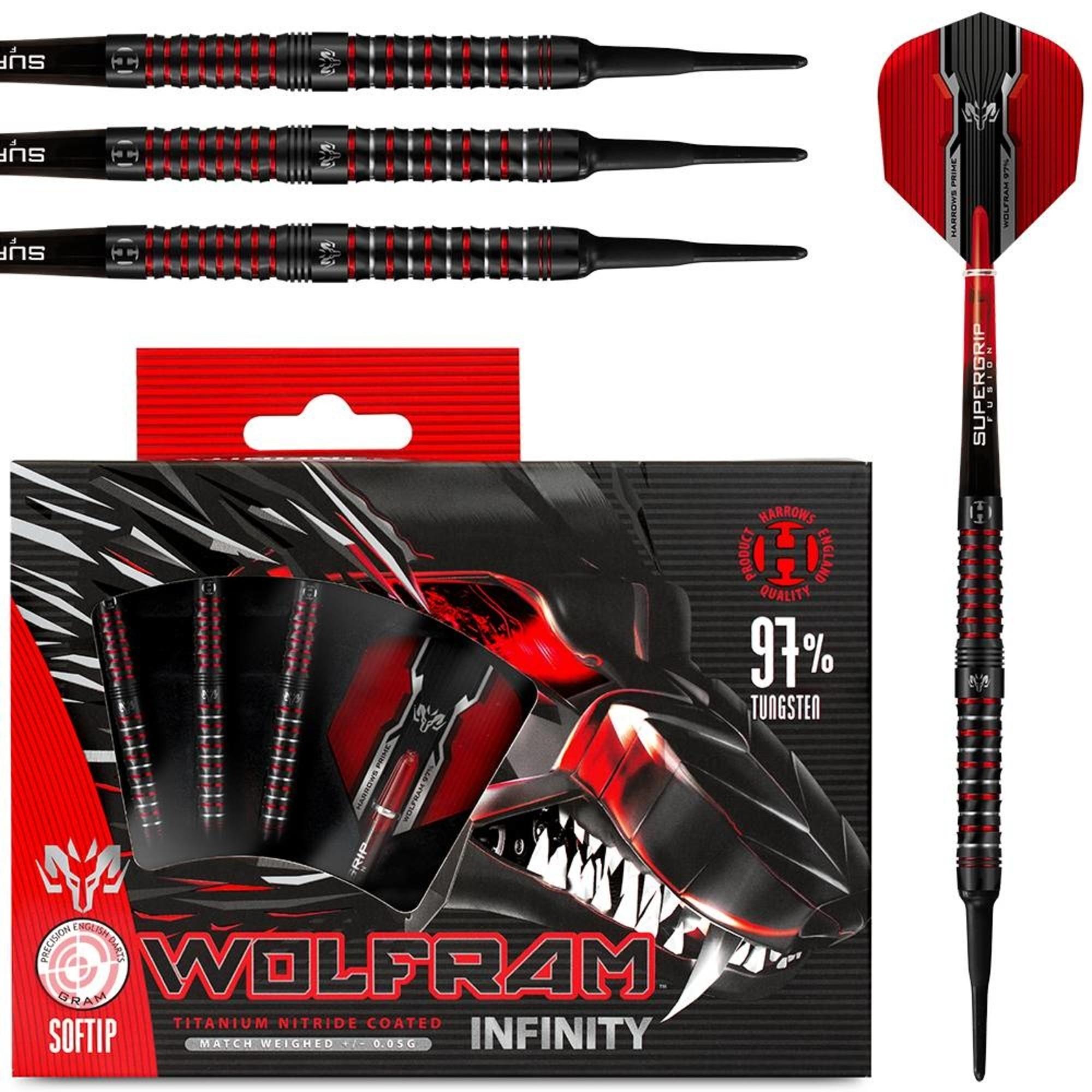 Harrows Wolfram Infinity 97/% Tungsten Soft Tip Darts