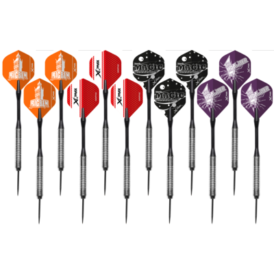 XQ Max Super Pack - 21 Steel Tip Brass Darts