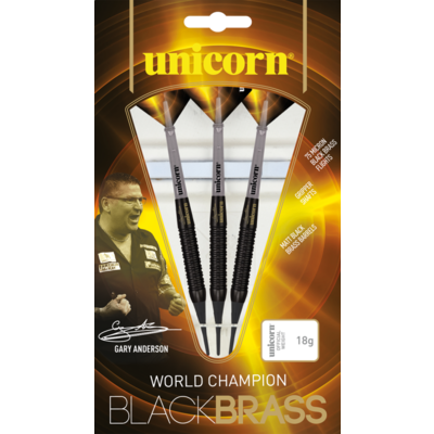 Unicorn Gary Anderson World Champion Black Brass P1 Soft Tip