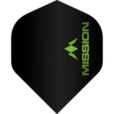 Mission Logo Std No2 Black & Green