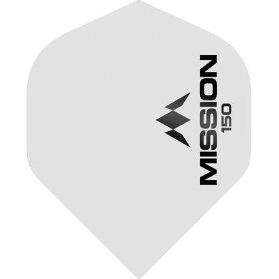 Mission Logo Std No2 - White - 150 Micron