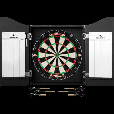 Mission Darts Centre Black Dartboard