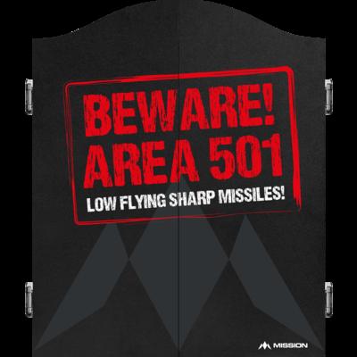 Mission Dartbord Deluxe Cabinet - Beware
