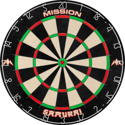 Mission Samurai  Dartboard