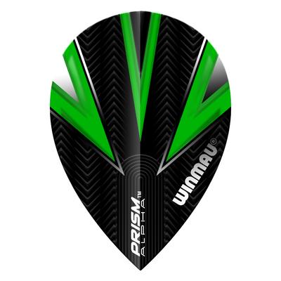 Winmau Prism Alpha Pear Green & Black