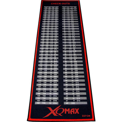 XQMax  Red Check Out Dart Mat