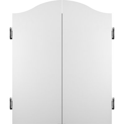 Mission Dartbord Deluxe Cabinet - Plain White