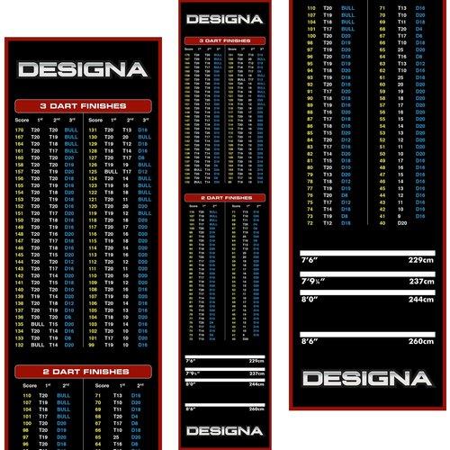 Designa Designa Carpet  - Non Slip Back - 290cm x 60cm Dart Mat