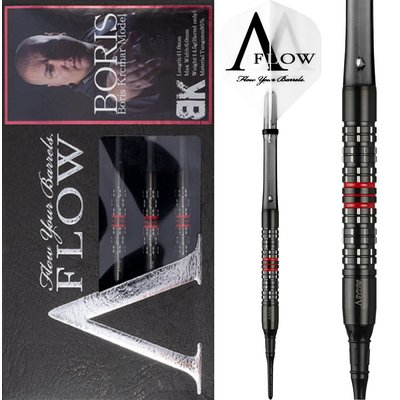 Dynasty A-FLOW Black Line Boris Krcmar Red 95% Soft Tip