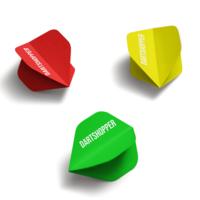 Dartshopper Customised Dart Flights Text - 100 Micron   10 Sets (30 Dart Flights)