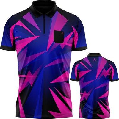 Arraz Shard Dartshirt Black & Blue-Pink